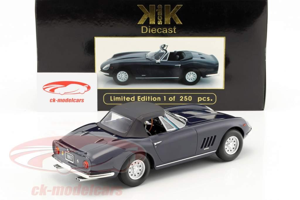 Ferrari 275 GTS/4 NART Spyder con llantas de aleación año de construcción 1967 azul oscuro 1:18 KK-Scale
