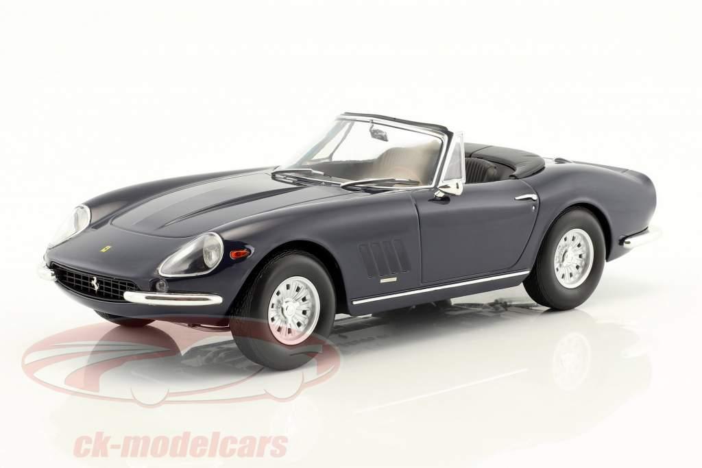Ferrari 275 GTS/4 NART Spyder med alufælge Opførselsår 1967 mørkeblå 1:18 KK-Scale