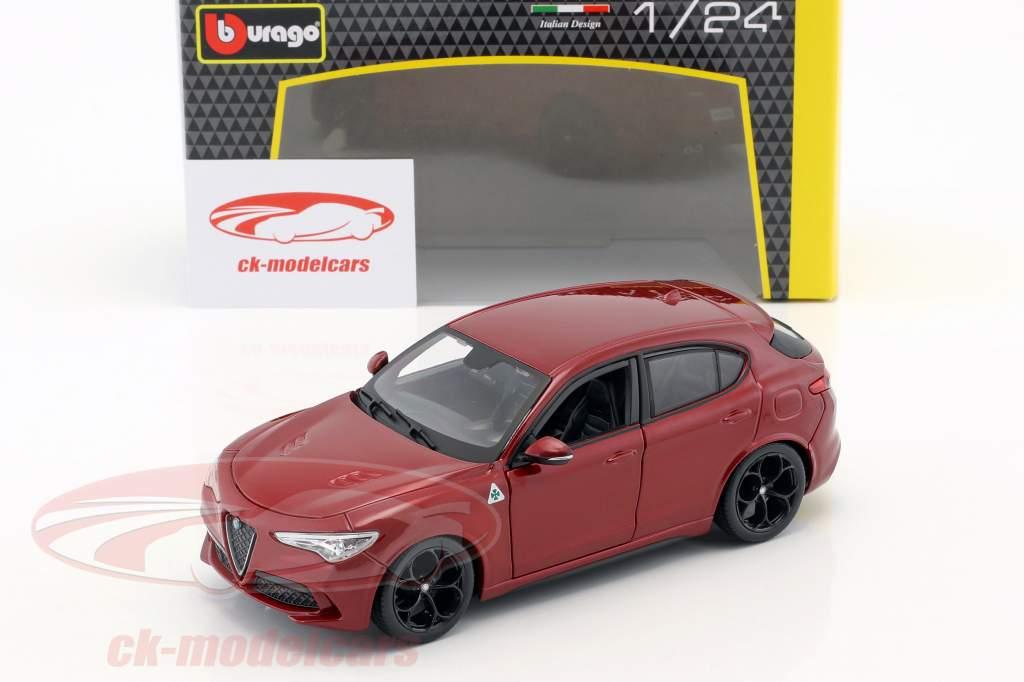 Alfa Romeo Stelvio rojo 1:24 Bburago
