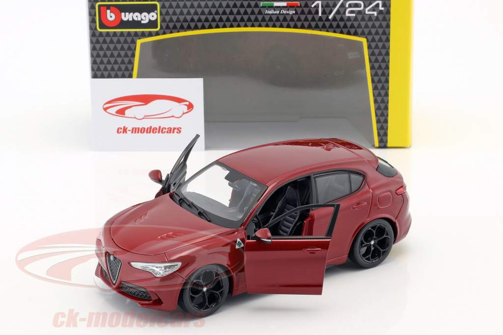 Alfa Romeo Stelvio Año de construcción 2017 rojo 1:24 Bburago