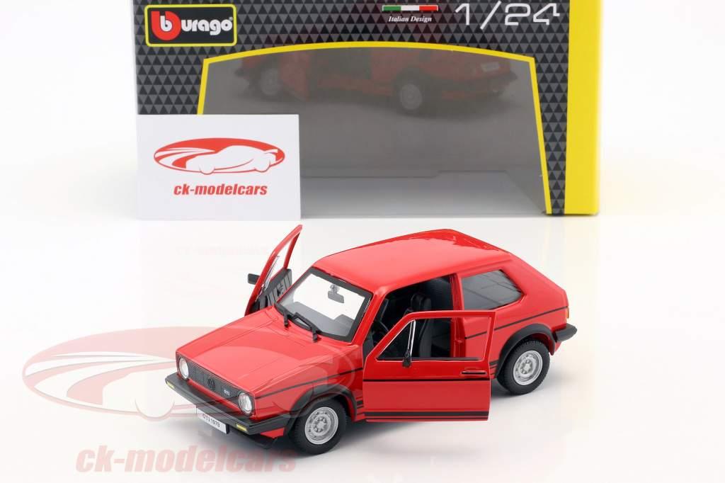 Volkswagen VW Golf Mk1 GTI Baujahr 1979 rot 1:24 Bburago