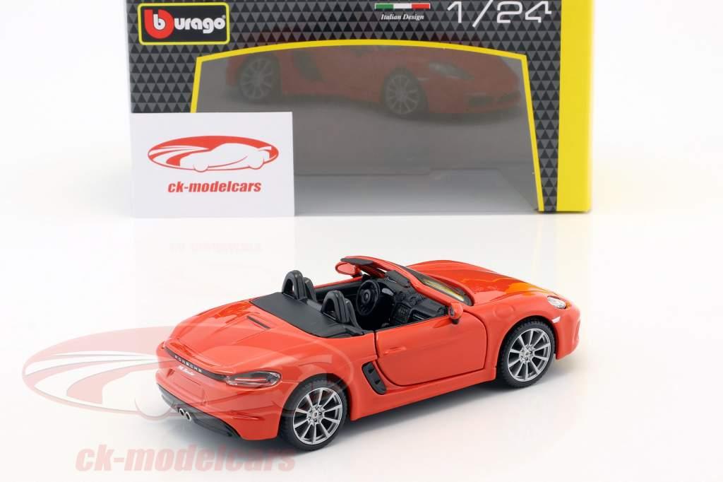 Porsche 718 (982) Boxster anno di costruzione 2016 arancione 1:24 Bburago