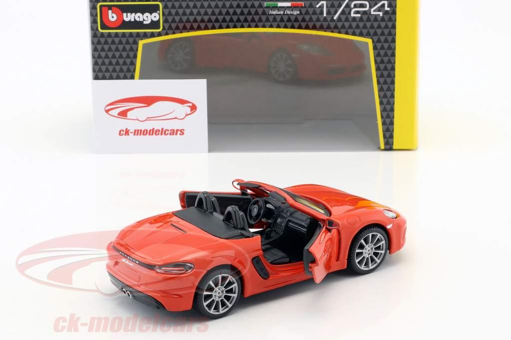 Porsche 718 (982) Boxster année de construction 2016 orange 1:24 Bburago