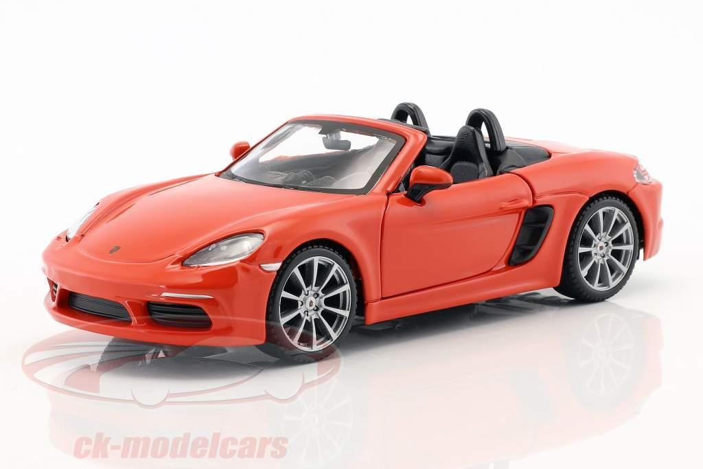 Porsche 718 (982) Boxster year 2016 orange 1:24 Bburago