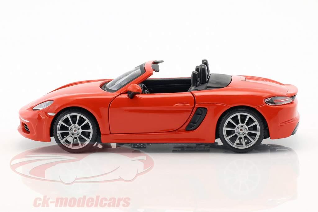 Porsche 718 (982) Boxster año de construcción 2016 naranja 1:24 Bburago