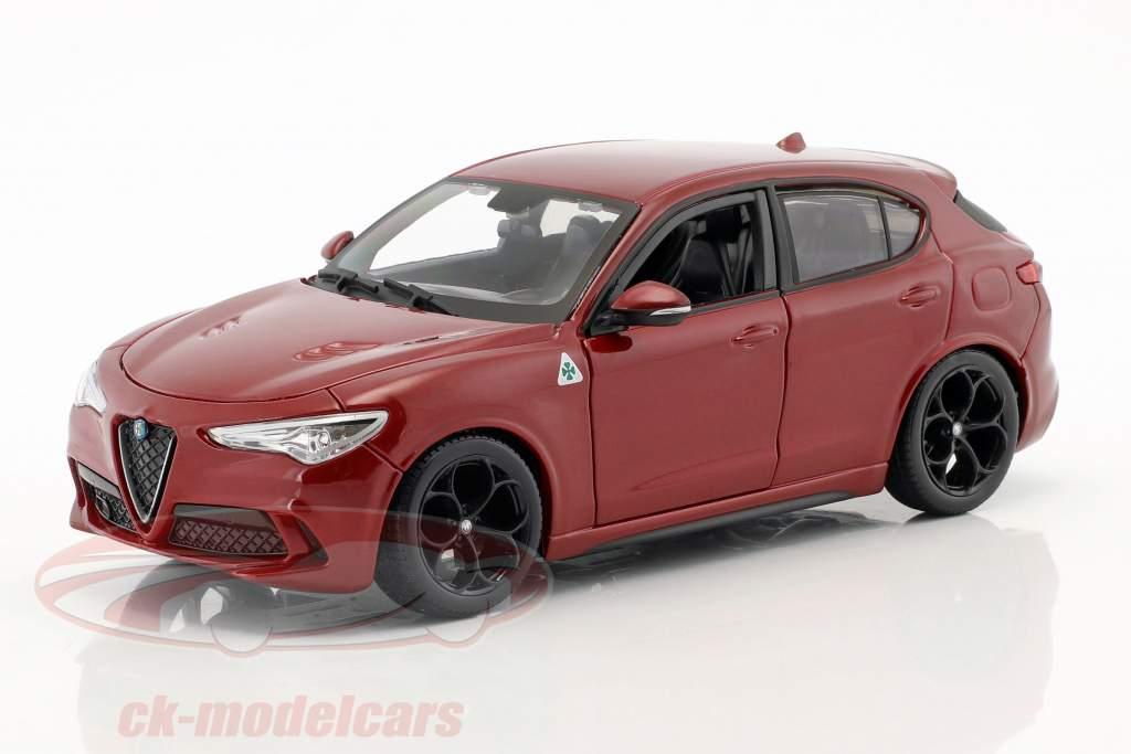 Alfa Romeo Stelvio Byggeår 2017 Rød 1:24 Bburago