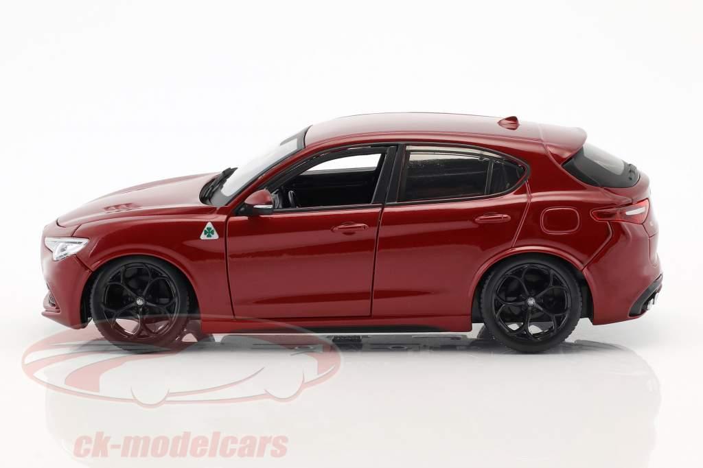 Alfa Romeo Stelvio Anno di costruzione 2017 rosso 1:24 Bburago