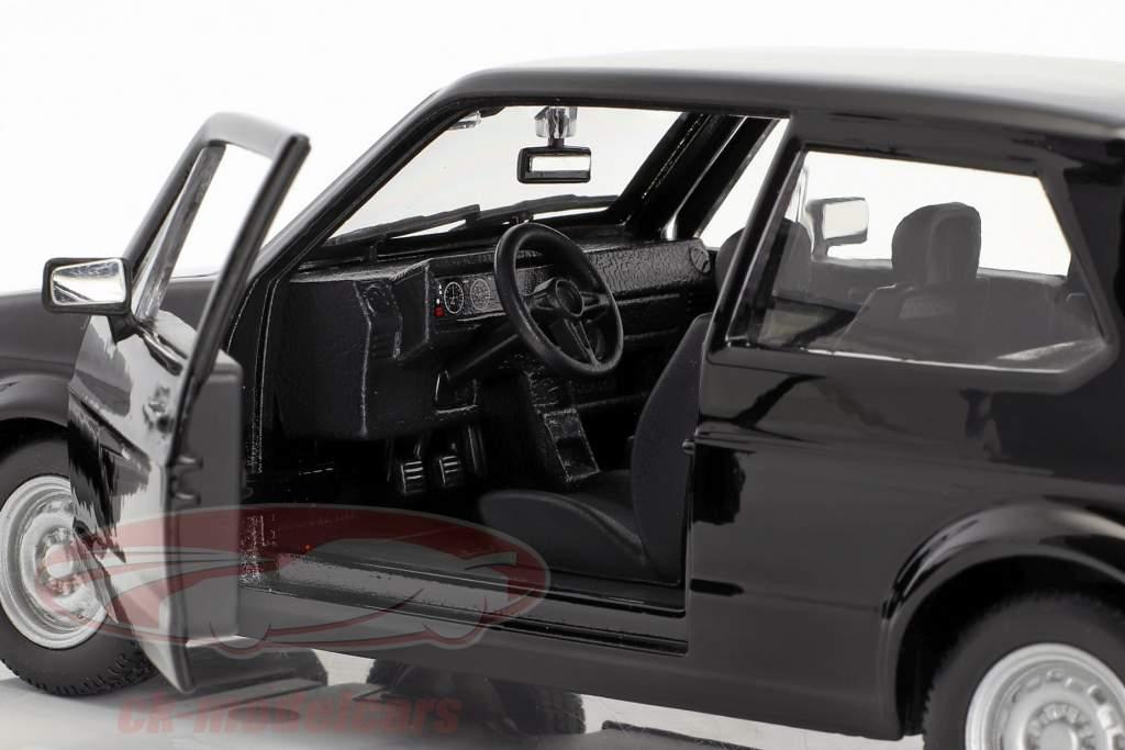 Volkswagen VW Golf Mk1 GTI Baujahr 1979 schwarz 1:24 Bburago