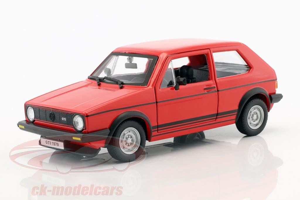 Volkswagen VW Golf Mk1 GTI année de construction 1979 rouge 1:24 Bburago