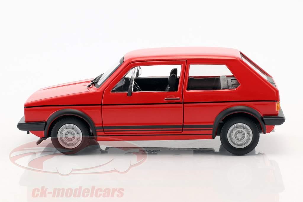 Volkswagen VW Golf Mk1 GTI Opførselsår 1979 rød 1:24 Bburago