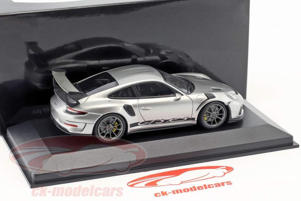 Porsche 911 (991 II) GT3 RS Baujahr 2018 GT-Silbermetallic 1:43 Minichamps