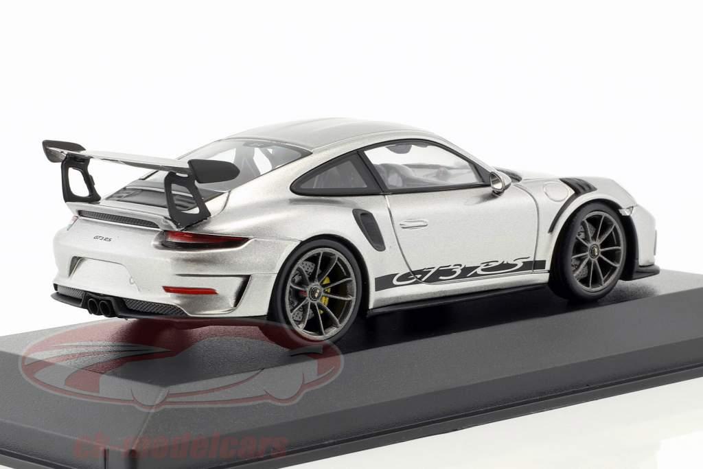 Porsche 911 (991 II) GT3 RS année de construction 2018 Argent GT métallisé 1:43 Minichamps
