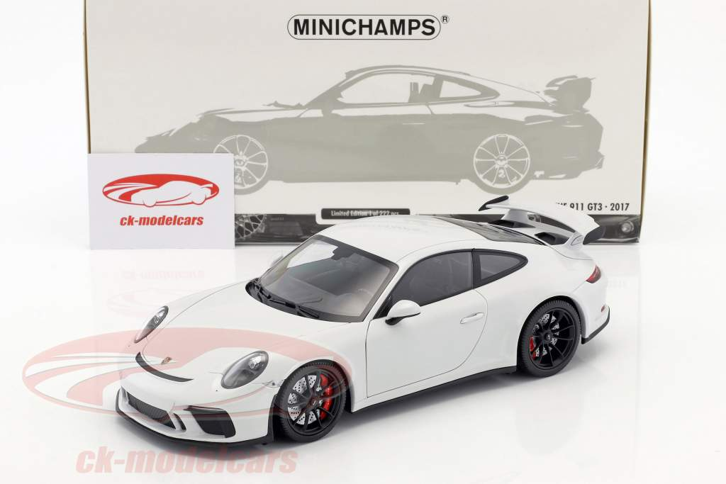 Porsche 911 (991 II) GT3 Baujahr 2017 carrara weiß metallic 1:18 Minichamps