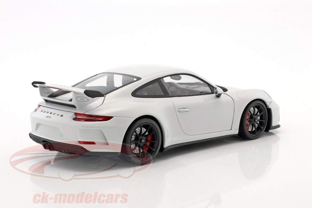 Porsche 911 (991 II) GT3 ano de construção 2017 carrara branco metálico 1:18 Minichamps