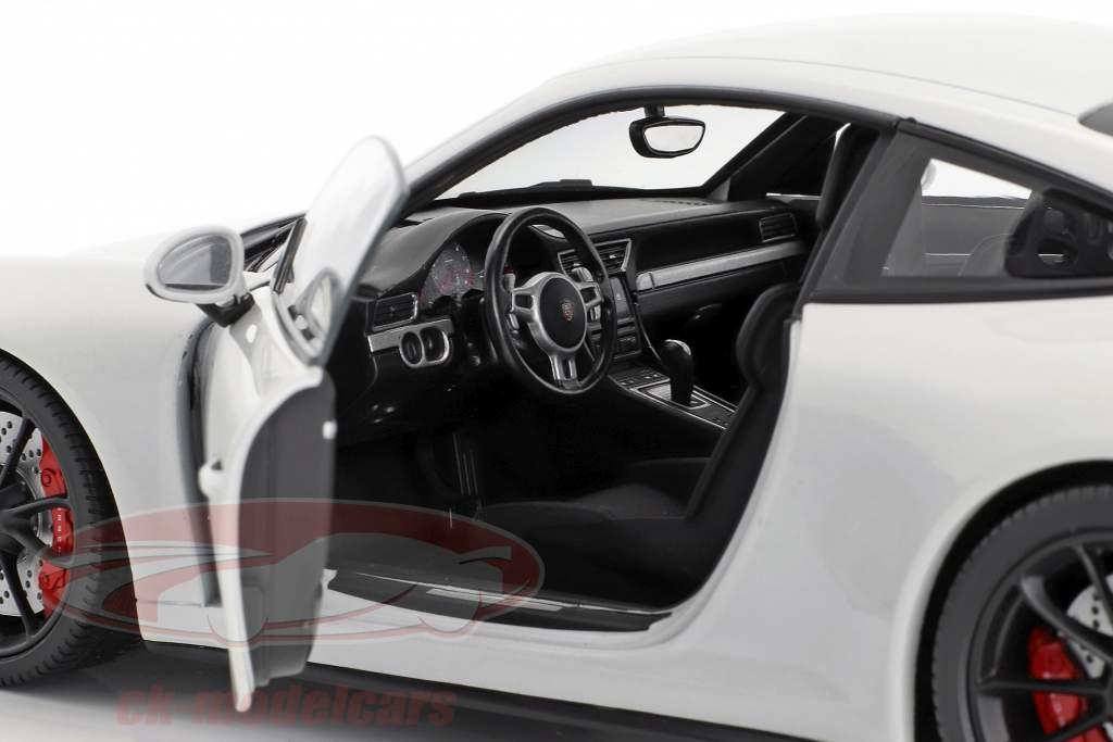 Porsche 911 (991 II) GT3 year 2017 carrara white metallic 1:18 Minichamps