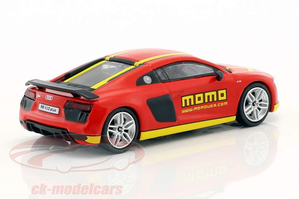 Tarmac Works 1 64 Audi R8 V10 Plus Momo Red Yellow T64g 001 Momo