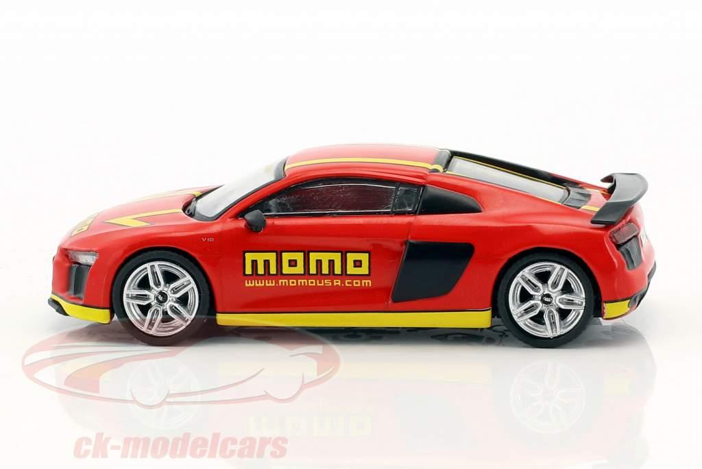 Audi R8 V10 Plus Momo rojo / amarillo 1:64 Tarmac Works
