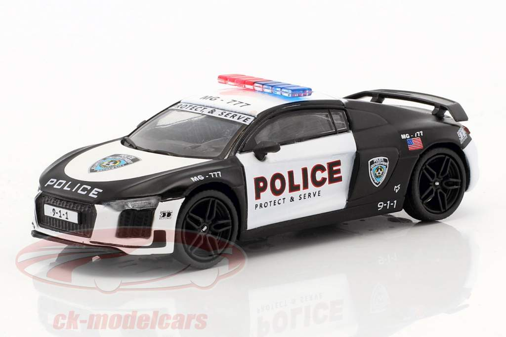 Audi R8 V10 Plus Police Protect and Serve 1:64 Tarmac Works