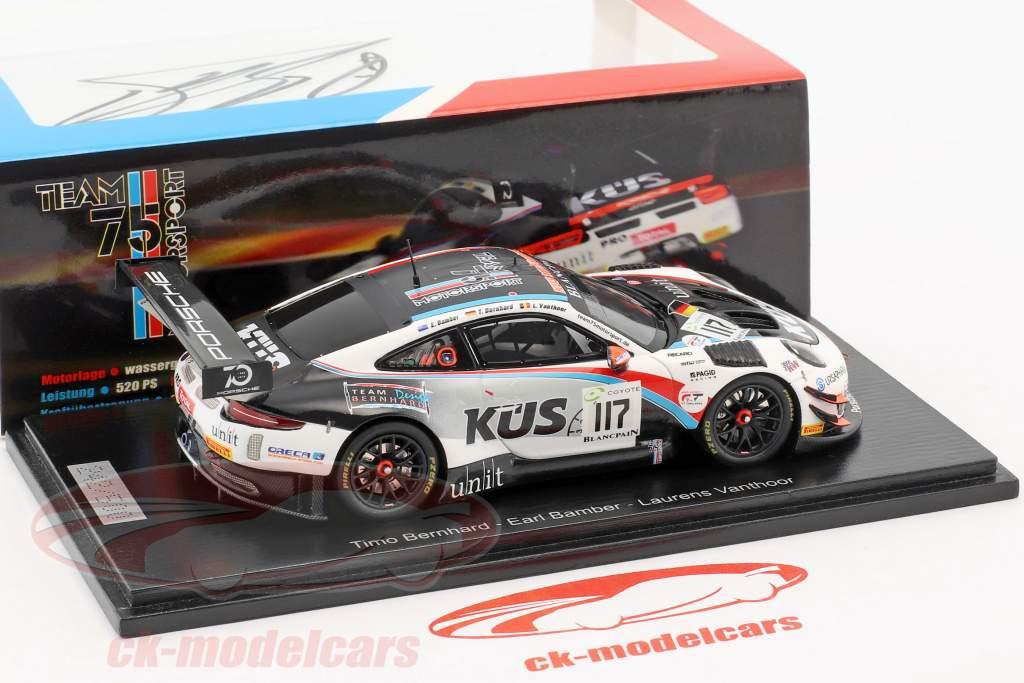 Porsche 911 (991) GT3 R #117 24h Spa 2018 KÜS Team75 Bernhard SIGNATURE EDITION 1:43 Spark