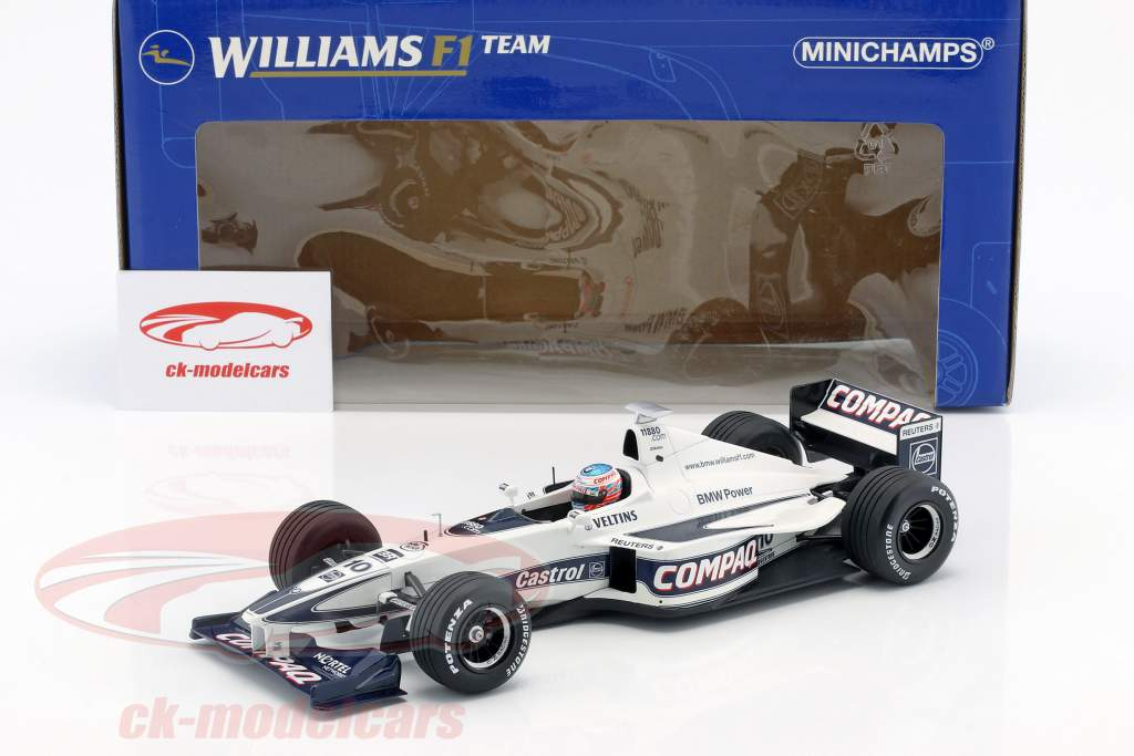 Jenson Button Williams FW22 #10 Showcar fórmula 1 2000 1:18 Minichamps