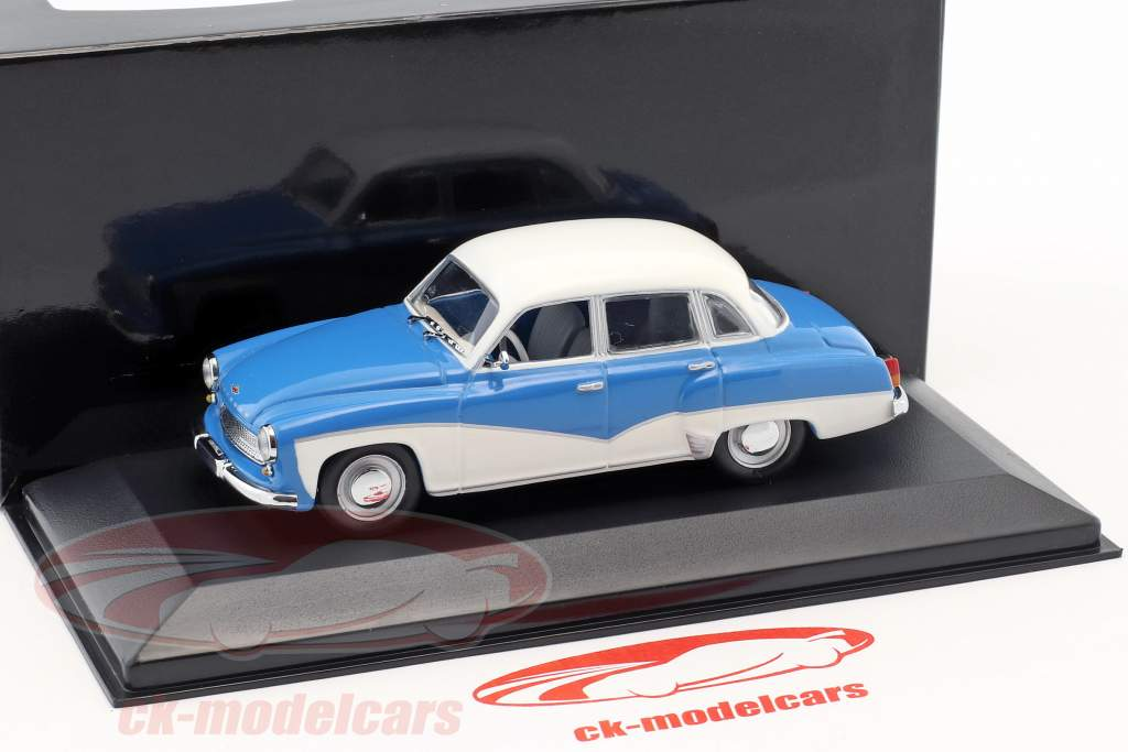 Wartburg 311 año de construcción 1955-1965 azul / blanco 1:43 Minichamps / falso sobreembalaje