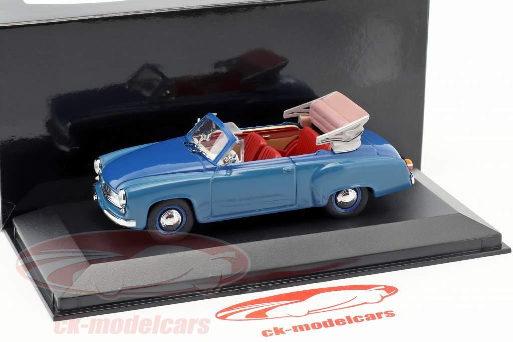 Wartburg 311/2 Cabriolet Opførselsår 1957-1965 blå 1:43 Minichamps / falsk overpack