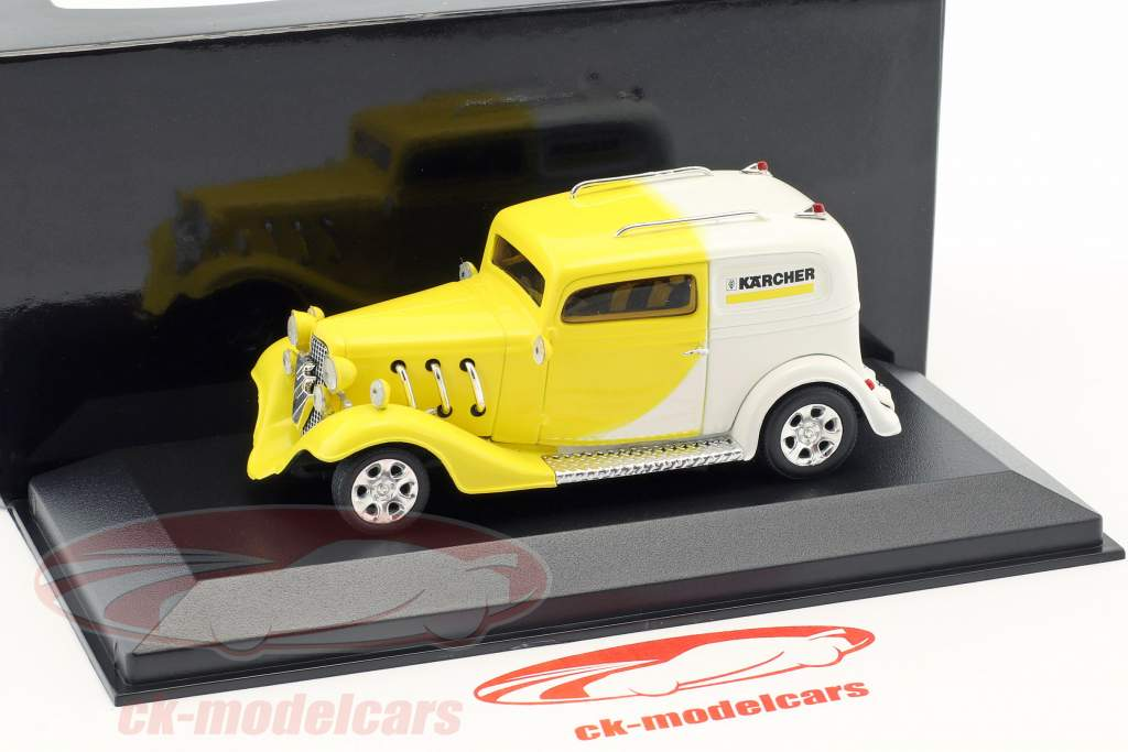 Kärcher Yellow-Car Hotrod amarelo / branco 1:43 Minichamps / falso overpack