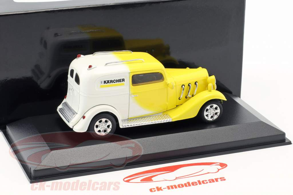 Kärcher Yellow-Car Hotrod amarillo / blanco 1:43 Minichamps / falso sobreembalaje