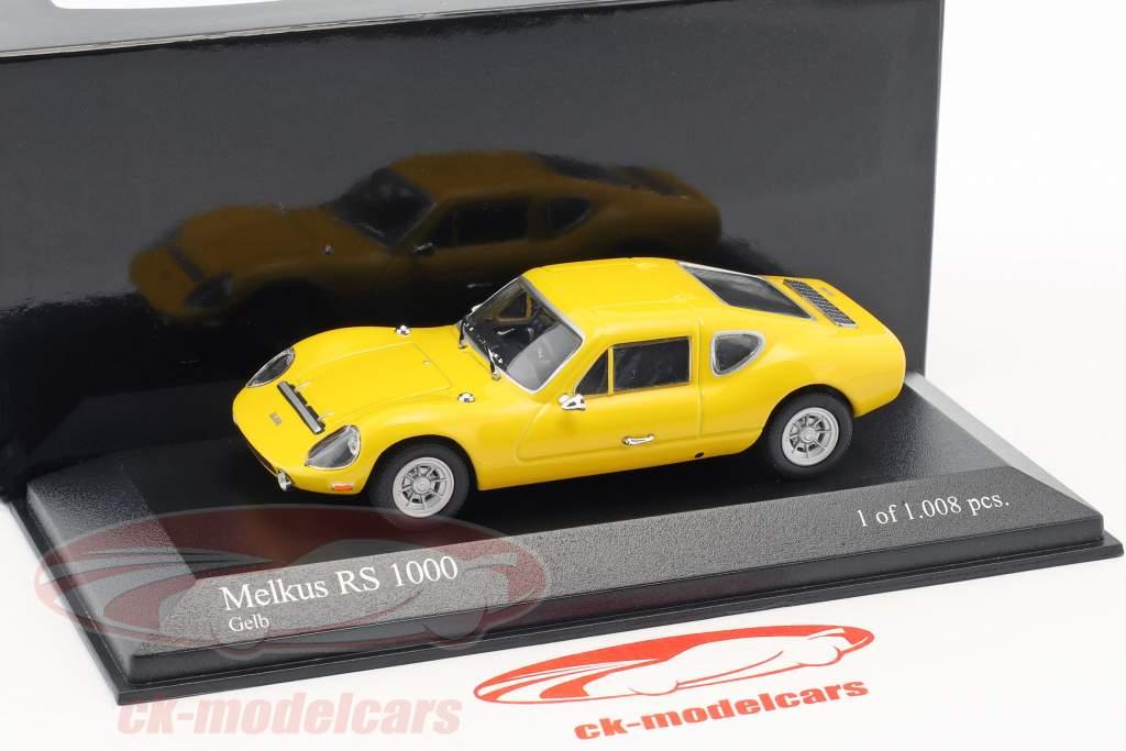 Melkus RS1000 anno di costruzione 1969–1973 giallo 1:43 Minichamps / falso sovrimballaggio