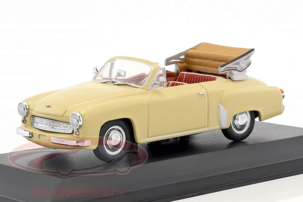 Wartburg 311/2 Cabriolet year 1957-1965 beige 1:43 Minichamps / false overpack