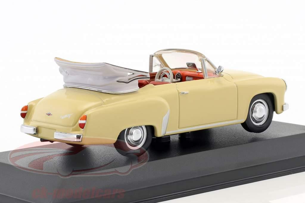 Wartburg 311/2 cabriolet année de construction 1957-1965 beige 1:43 Minichamps / faux suremballage