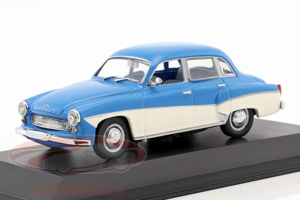 Wartburg 312 Opførselsår 1955-1965 blå / hvid 1:43 Minichamps / falsk overpack