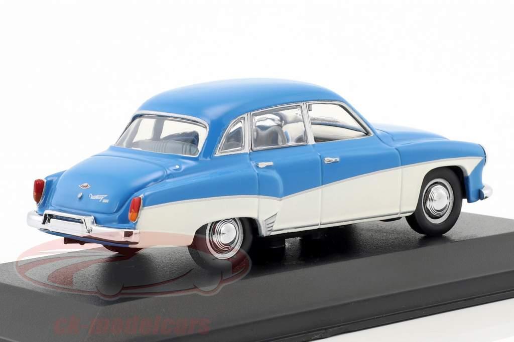 Wartburg 312 año de construcción 1955-1965 azul / blanco 1:43 Minichamps / falso sobreembalaje