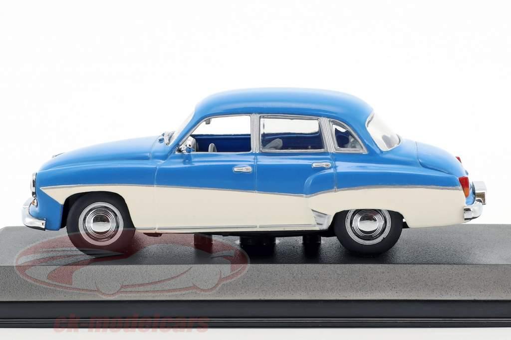 Wartburg 312 Bouwjaar 1955-1965 blauw / wit 1:43 Minichamps / vals oververpakking