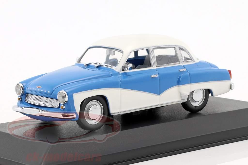 Wartburg 311 année de construction 1955-1965 bleu / blanc 1:43 Minichamps / faux suremballage