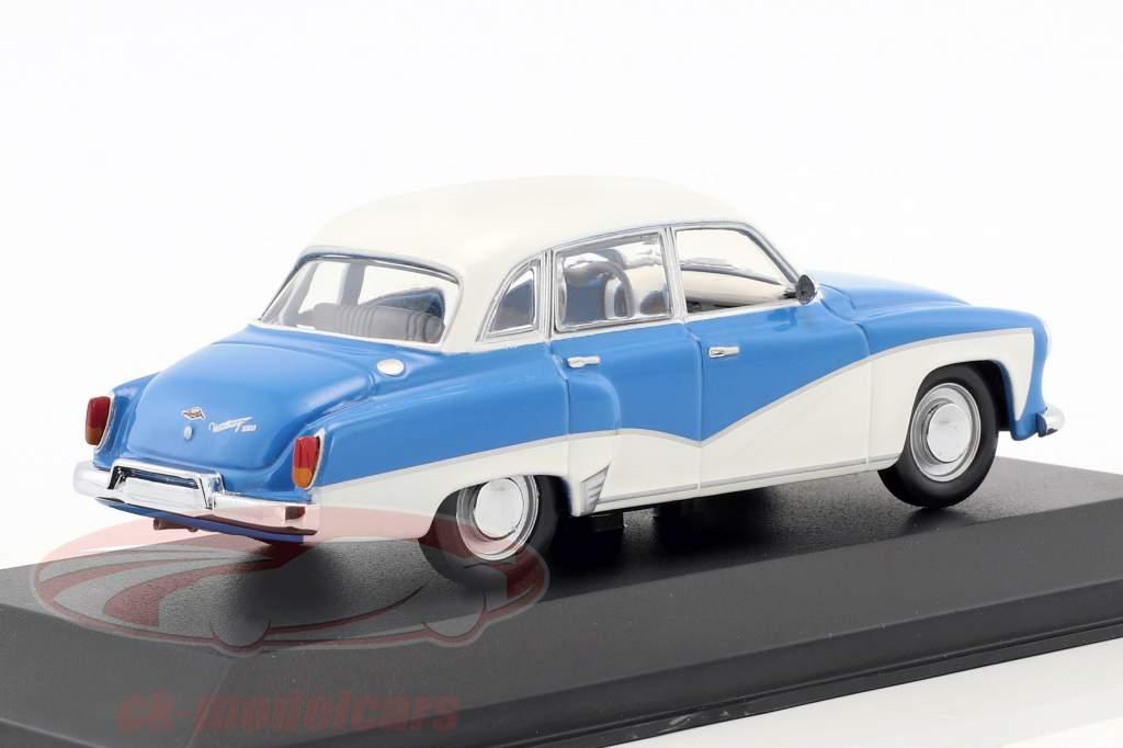 Wartburg 311 Opførselsår 1955-1965 blå / hvid 1:43 Minichamps / falsk overpack