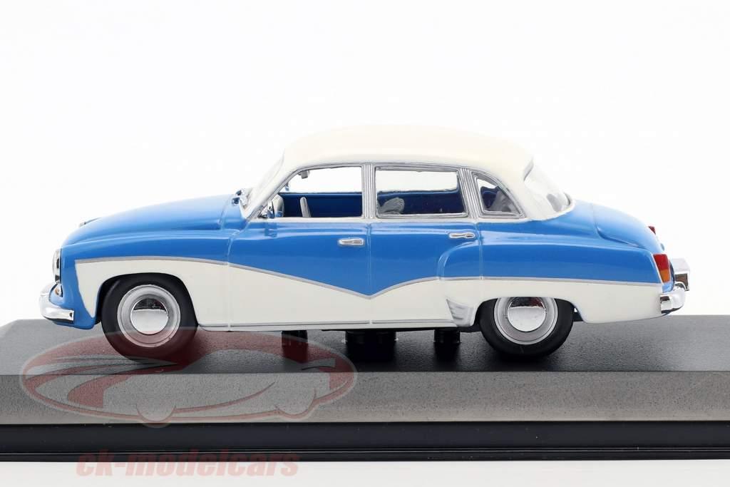 Wartburg 311 anno di costruzione 1955-1965 blu / bianco 1:43 Minichamps / falso sovrimballaggio