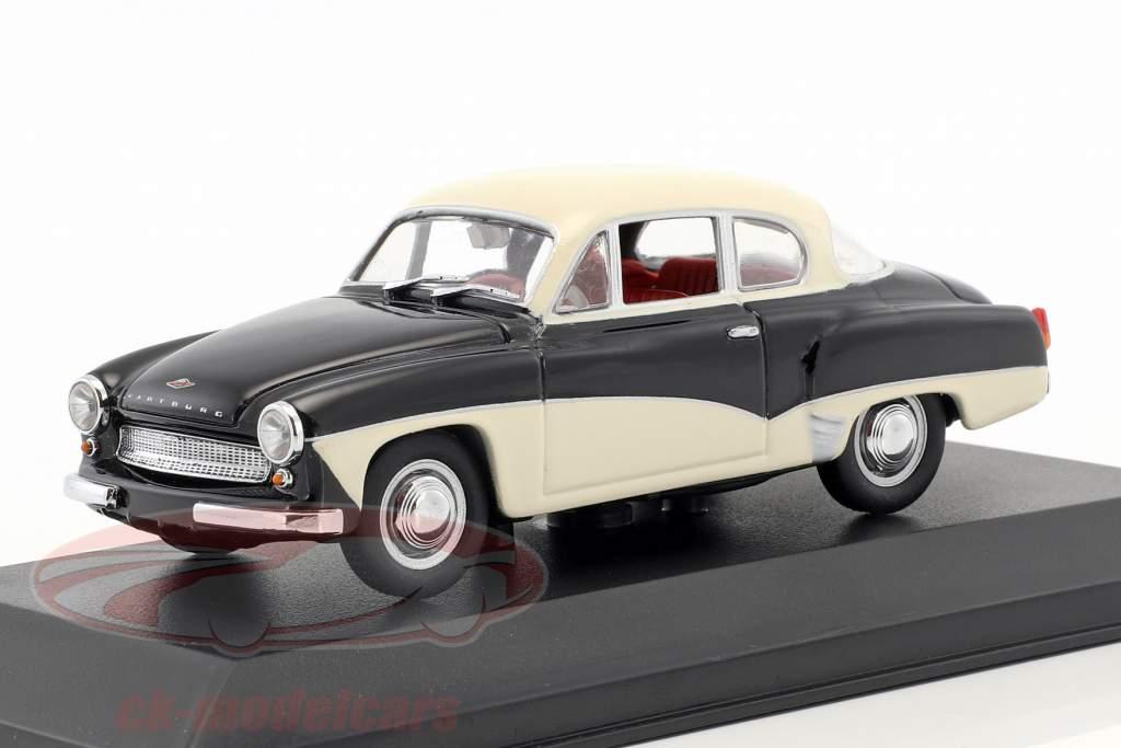 Wartburg 311 año de construcción 1955-1965 negro / blanco 1:43 Minichamps / falso sobreembalaje