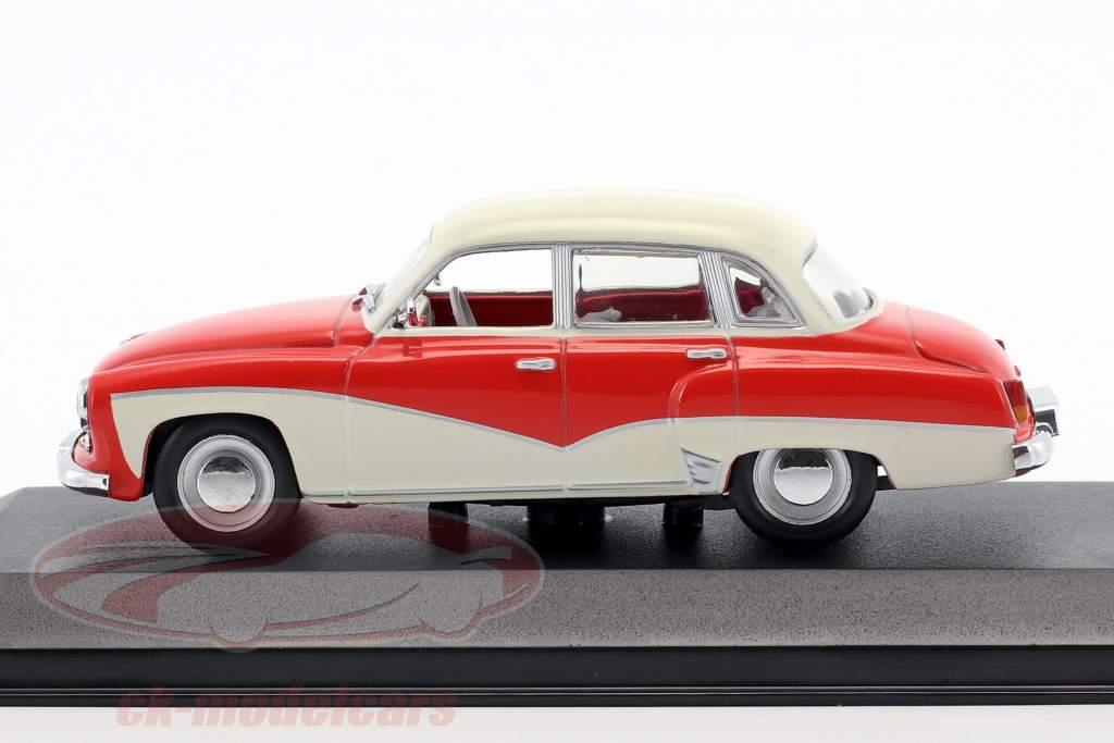 Wartburg 311 Opførselsår 1955-1965 rød / hvid 1:43 Minichamps / falsk overpack