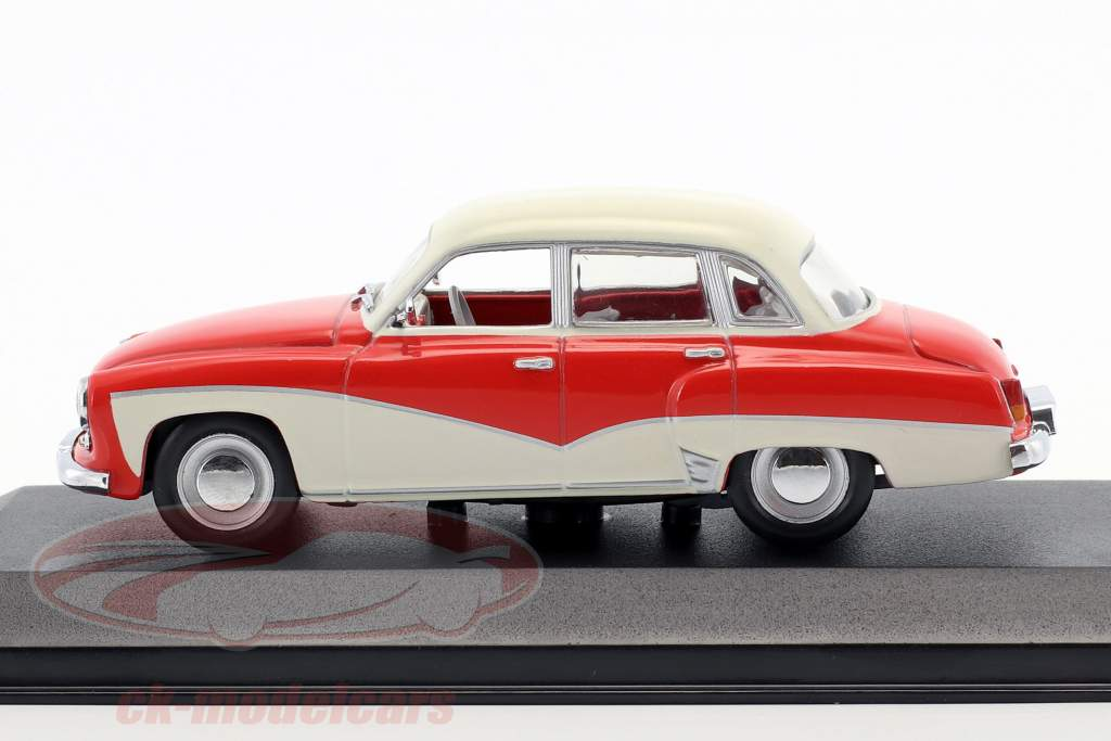 Wartburg 311 year 1955-1965 red / white 1:43 Minichamps / false overpack