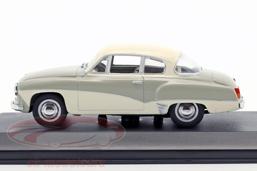 Wartburg 311 Bouwjaar 1955-1965 grijs / wit 1:43 Minichamps / vals oververpakking