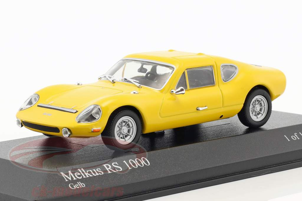 Melkus RS1000 year 1969–1973 yellow 1:43 Minichamps / false overpack