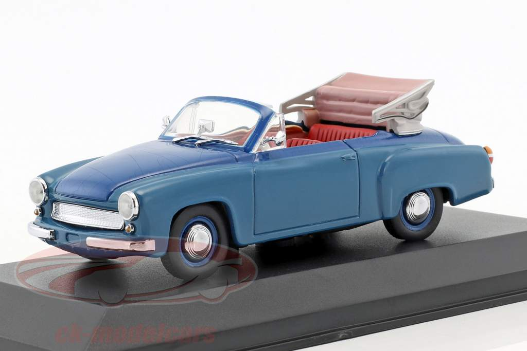 Wartburg 311/2 cabriolet année de construction 1957-1965 bleu 1:43 Minichamps / faux suremballage