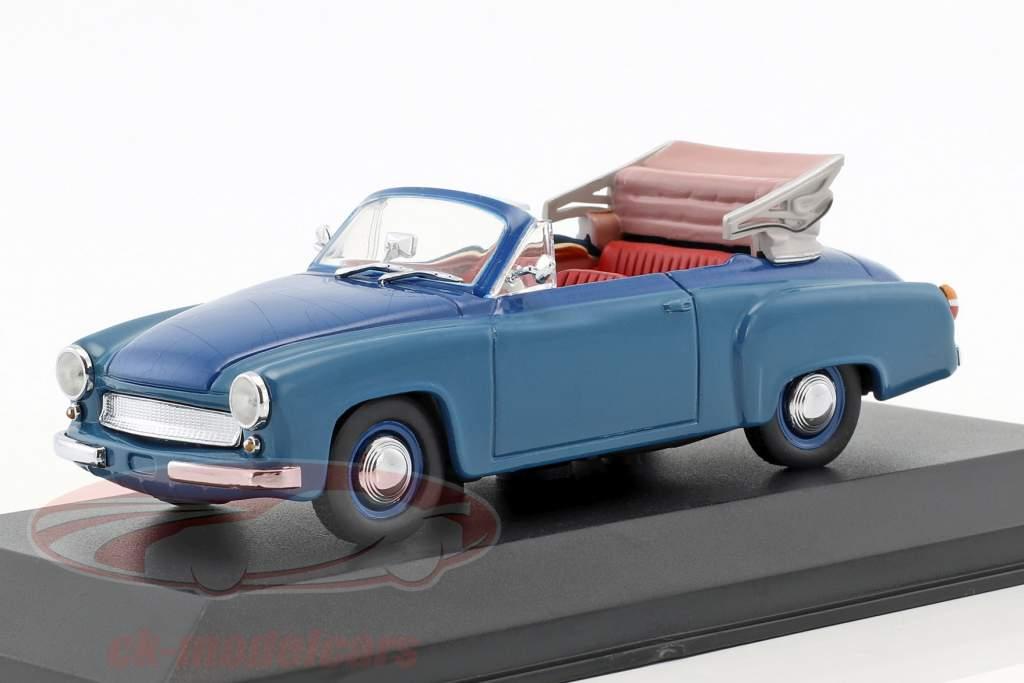 Wartburg 311/2 Cabriolet year 1957-1965 blue 1:43 Minichamps / false overpack