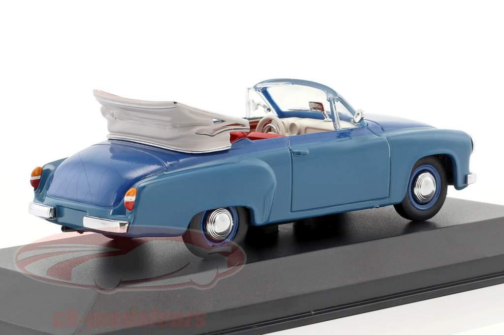 Wartburg 311/2 cabriolet anno di costruzione 1957-1965 blu 1:43 Minichamps / falso sovrimballaggio