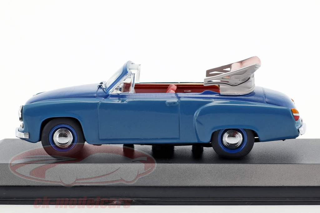 Wartburg 311/2 Cabriolet Bouwjaar 1957-1965 blauw 1:43 Minichamps / vals oververpakking