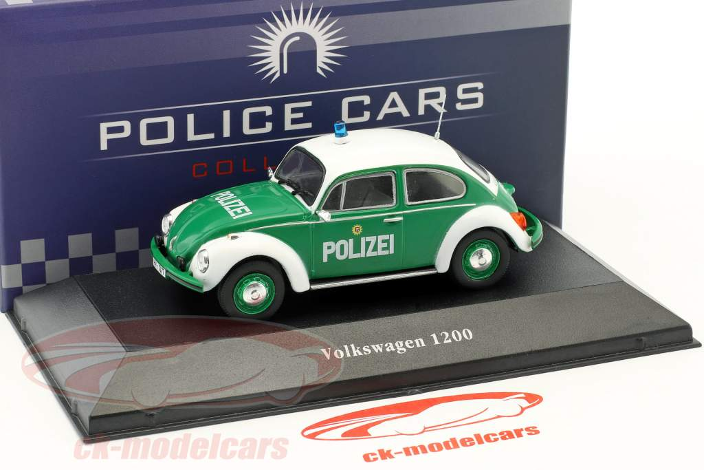 Volkswagen VW scarafaggio 1200 polizia Germania anno di costruzione 1977 verde / bianco 1:43 Atlas