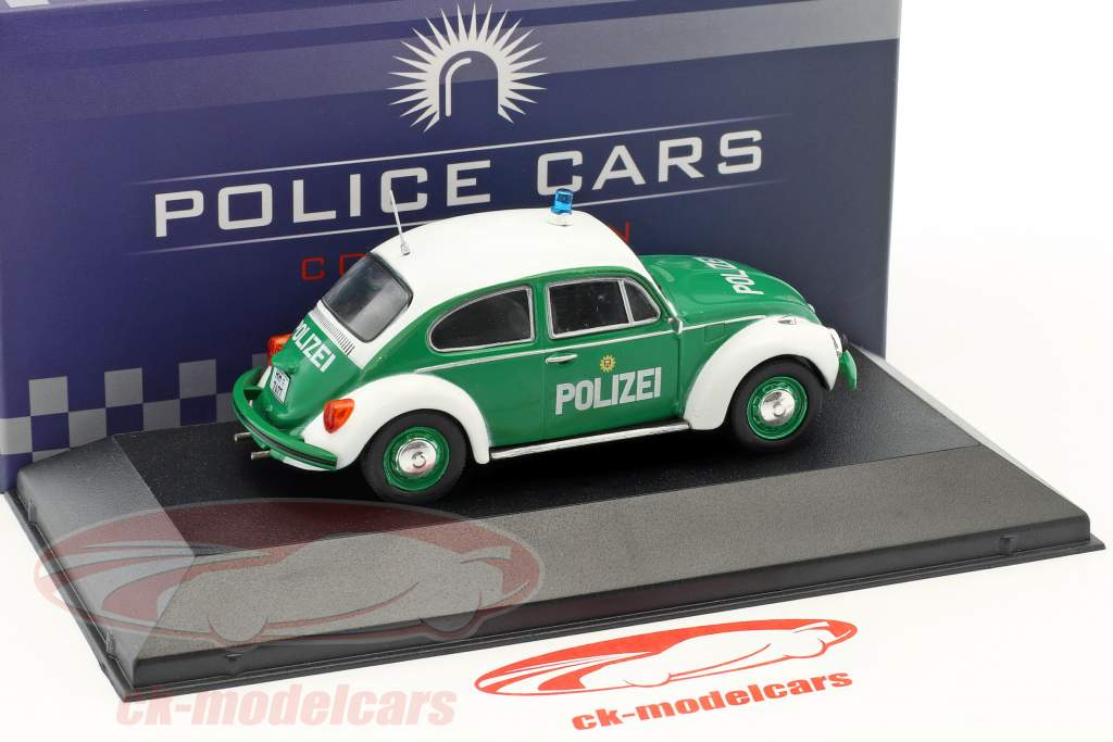 Volkswagen VW bille 1200 politi Tyskland Opførselsår 1977 grøn / hvid 1:43 Atlas