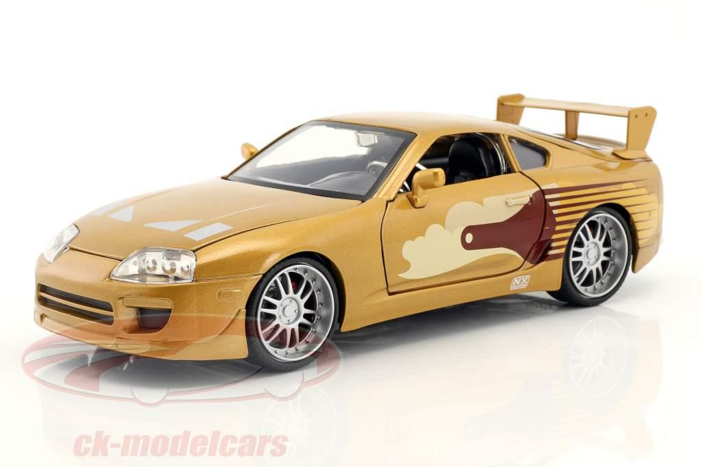 Slap Jack's Toyota Supra Baujahr 1995 Film 2 Fast 2 Furious (2003) gold 1:24 Jada Toys