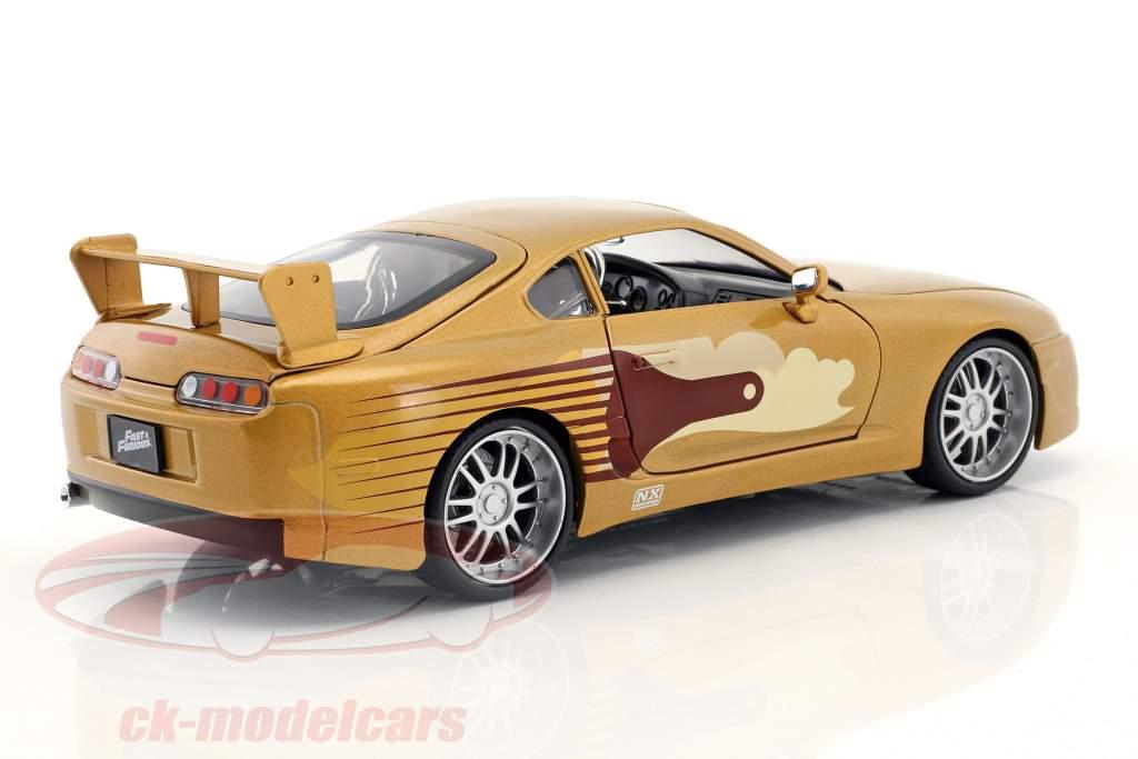 Slap Jack's Toyota Supra Bouwjaar 1995 film 2 Fast 2 Furious (2003) goud 1:24 Jada Toys